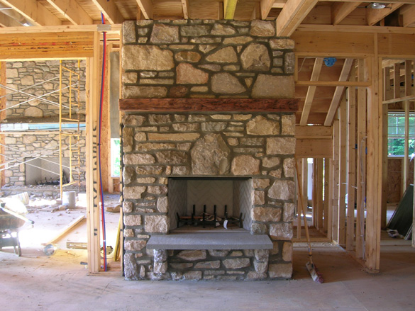 Stone fireplaces lindsay 39 s masonry for New construction fireplace